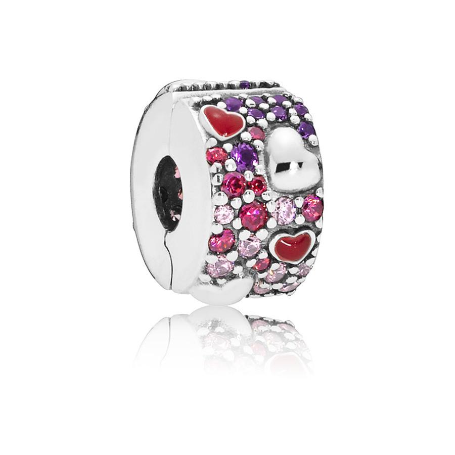 Pandora 925 Sterling Zilveren Heart Bedel 797838CZRMX
