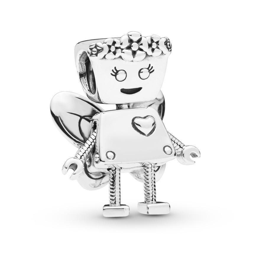 Pandora Moments 925 Sterling Zilveren Robot Girl Bedel 797856