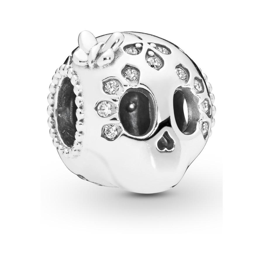Pandora Moments 925 Sterling Zilveren Skull Bedel 797866CZ