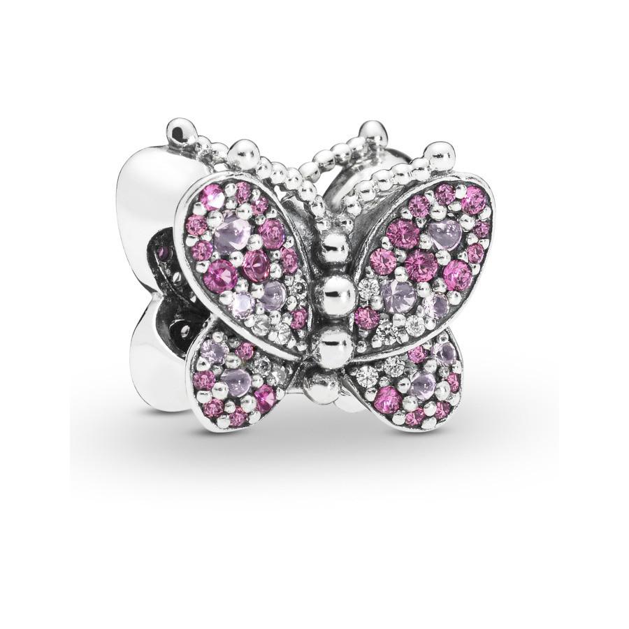 Pandora Moments 925 Sterling Zilveren Rosegoudkleurige Butterfly Bedel 797882NCCMX