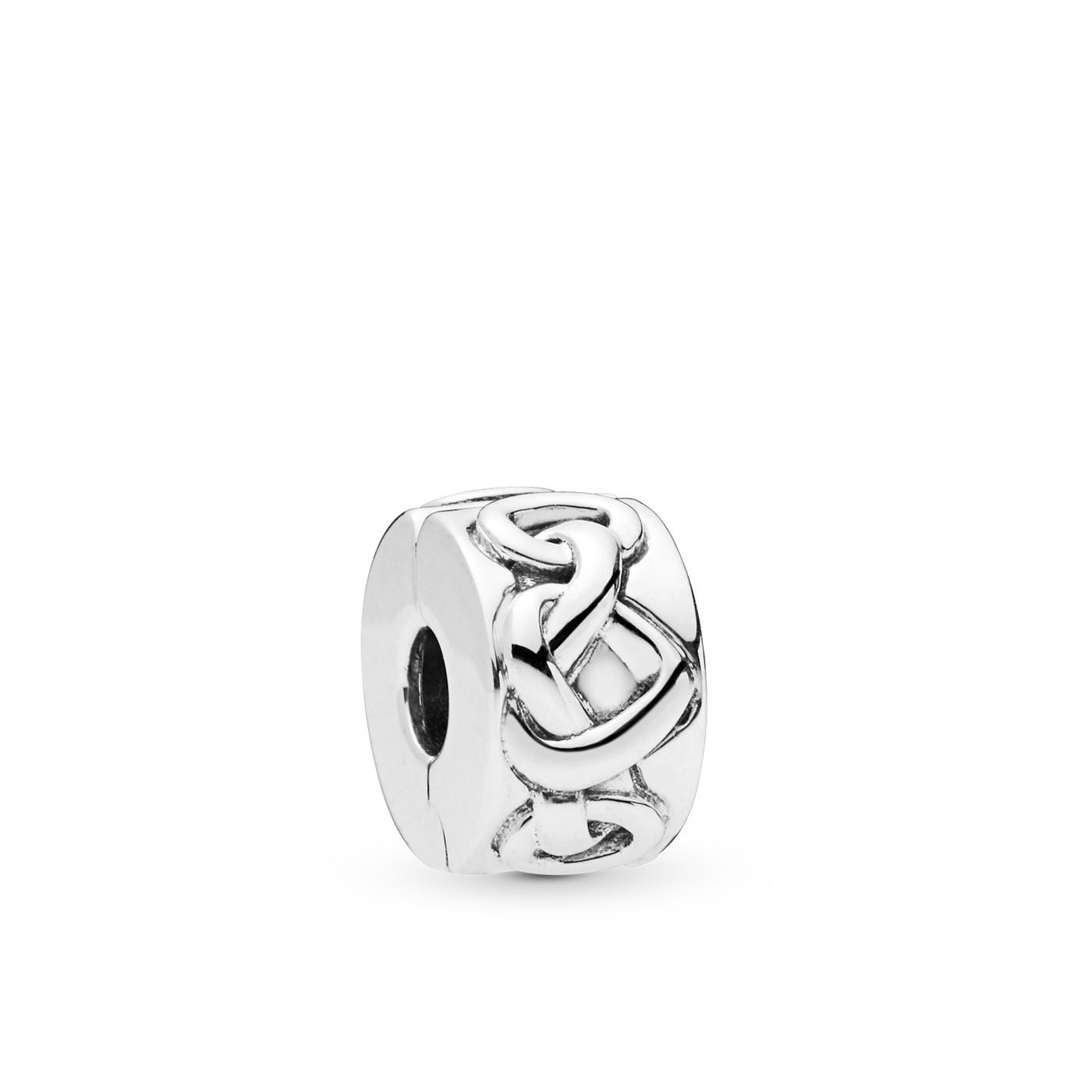 Pandora Moments 925 Sterling Zilveren Knotted Hearts Bedel 798035