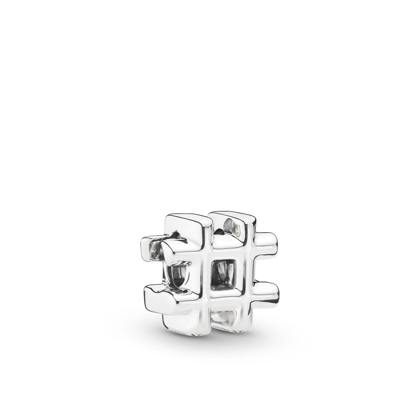 Pandora Moments 925 Sterling Zilveren Hashtag Bedel 798128