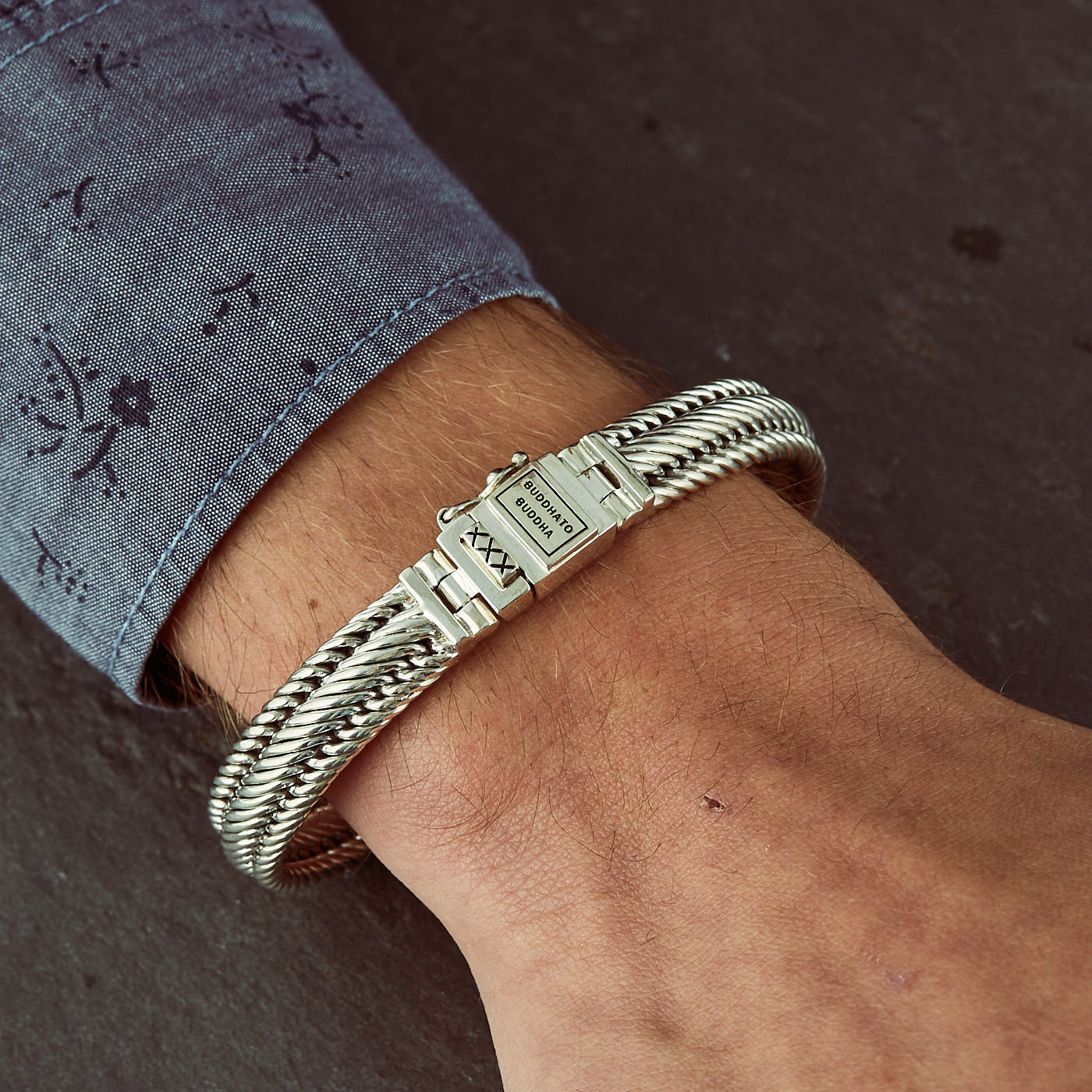 aaf7609ee29a61 Buddha to Buddha 925 Sterling Zilveren J155 Edwin Junior Armband