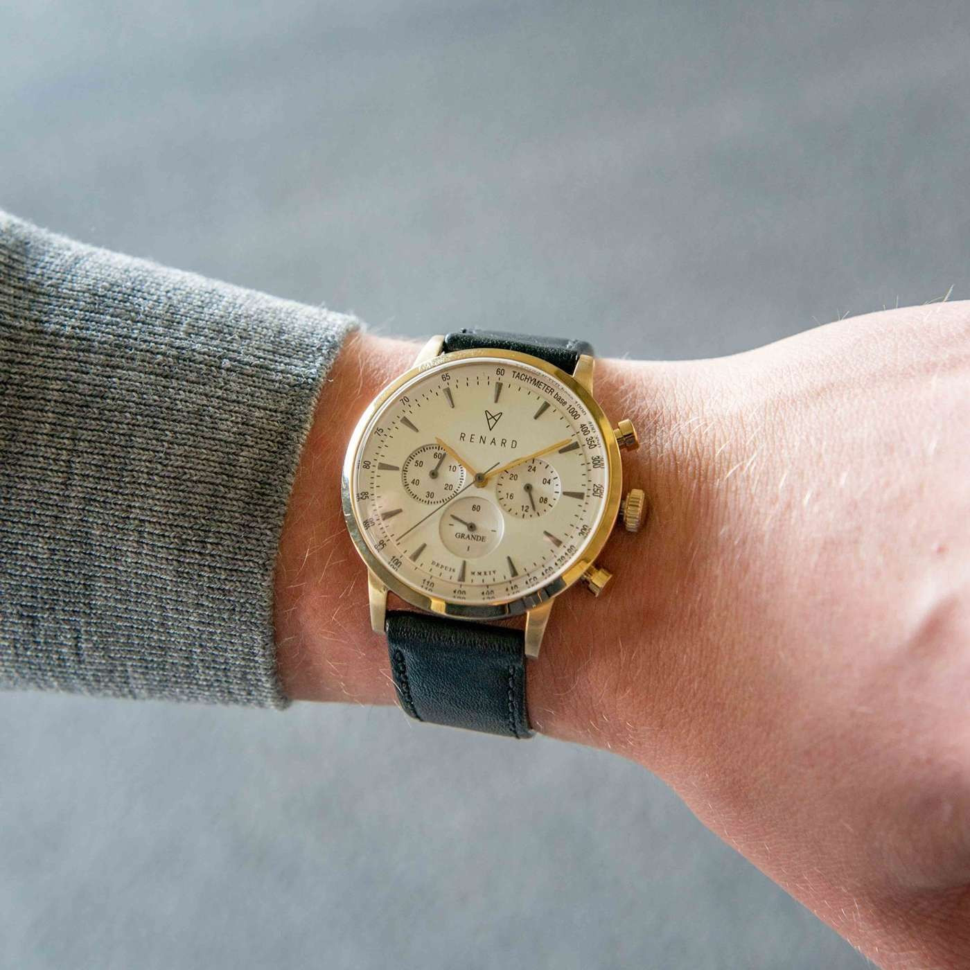 Renard Grande Chrono horloge RC402YG14VBK