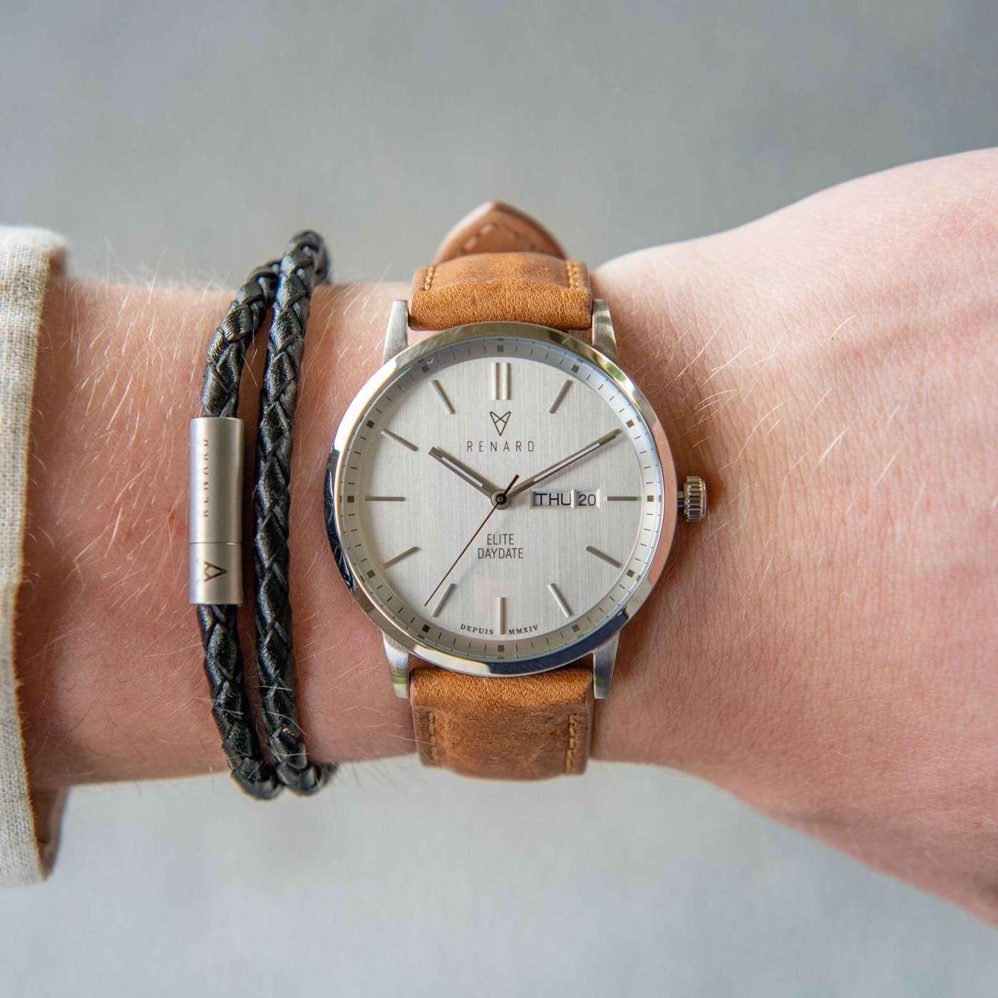 Renard Elite Day Date horloge RD381SS10AMB