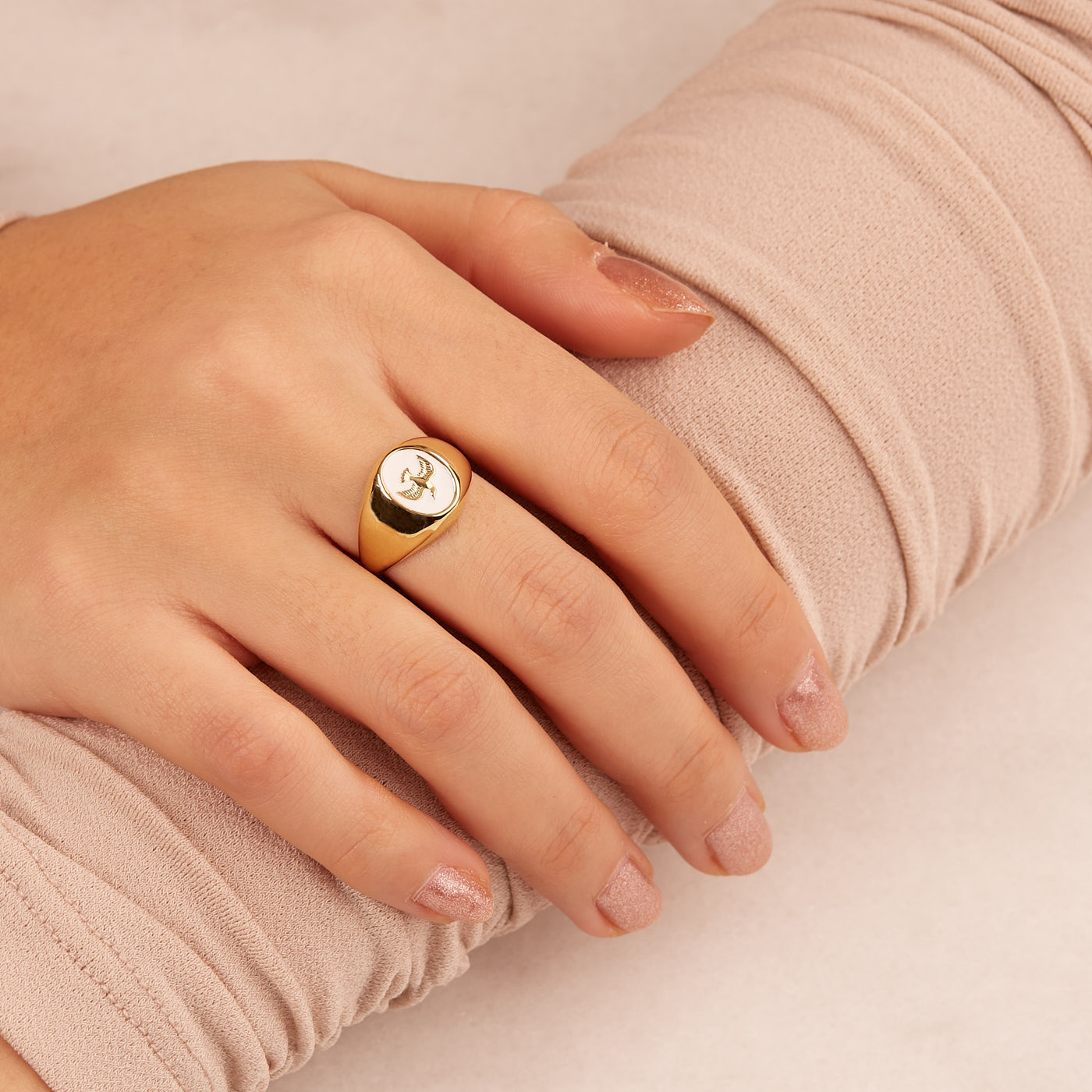 ANNA + NINA 925 Sterling Zilveren Lovebird Ring 21-1M908000-3GP