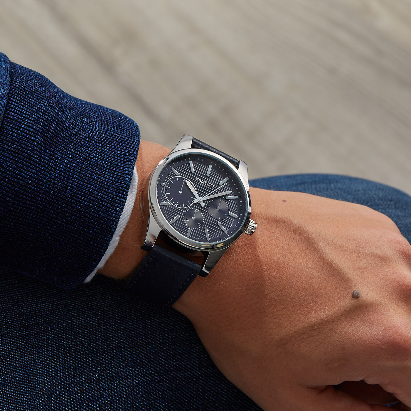 OOZOO Timepieces Blauw horloge C9618 (45 mm)