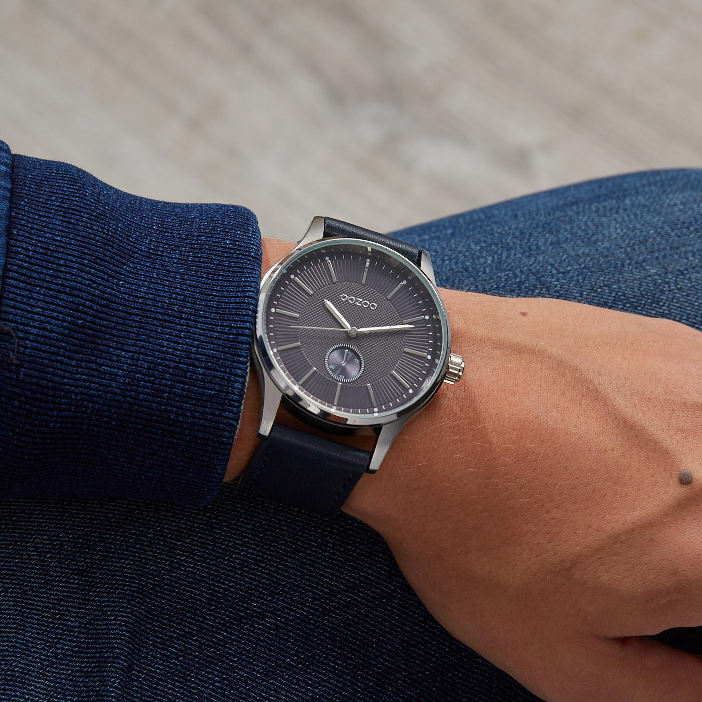OOZOO Timepieces Blauw horloge C9637 (48 mm)