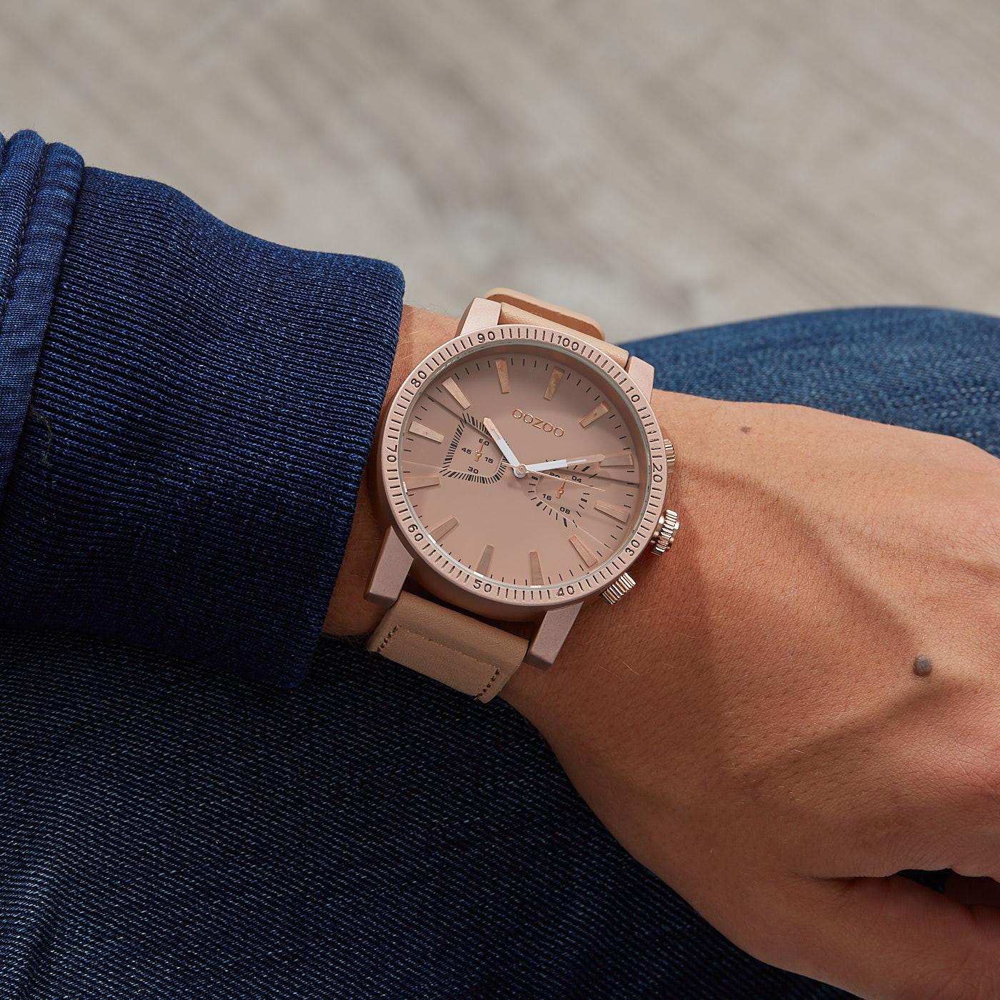 OOZOO Timepieces Roze horloge C9646 (50 mm)