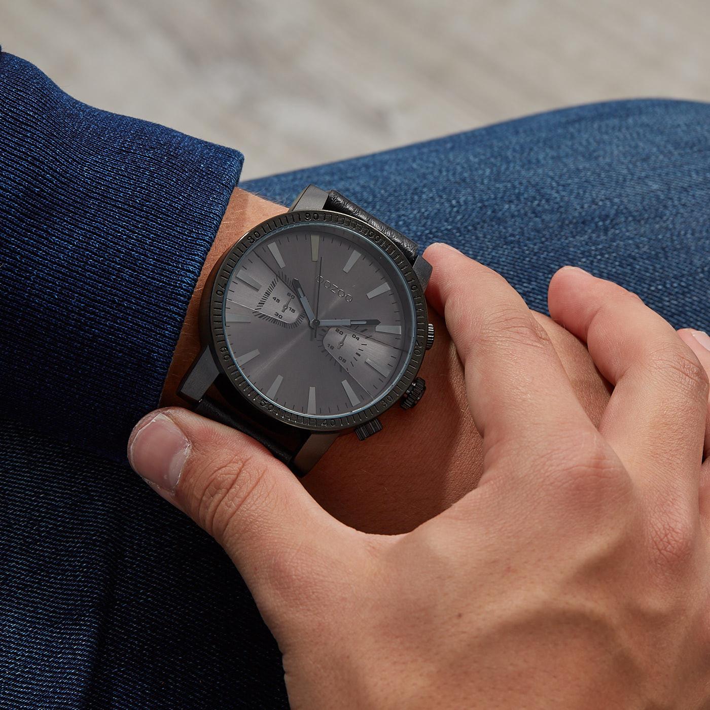 OOZOO Timepieces Zwart horloge C9649 (50 mm)
