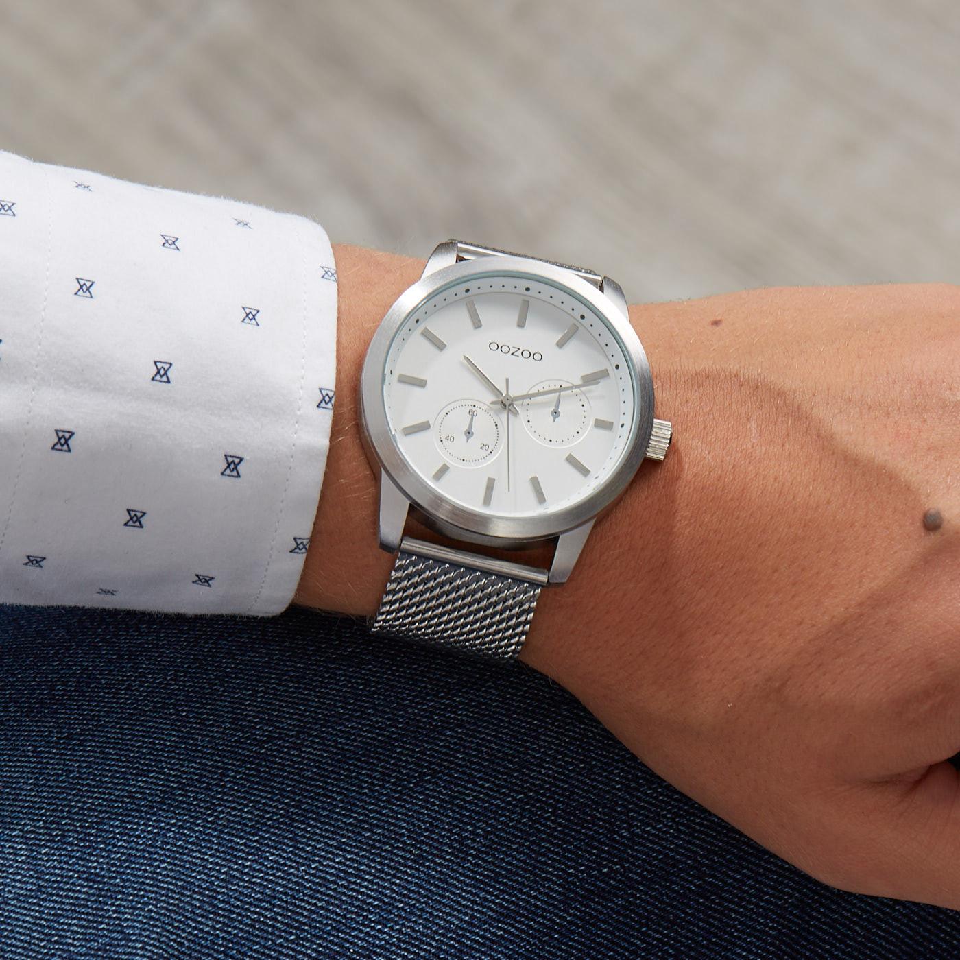 OOZOO Timepieces Zilverkleurig horloge C9663 (47 mm)