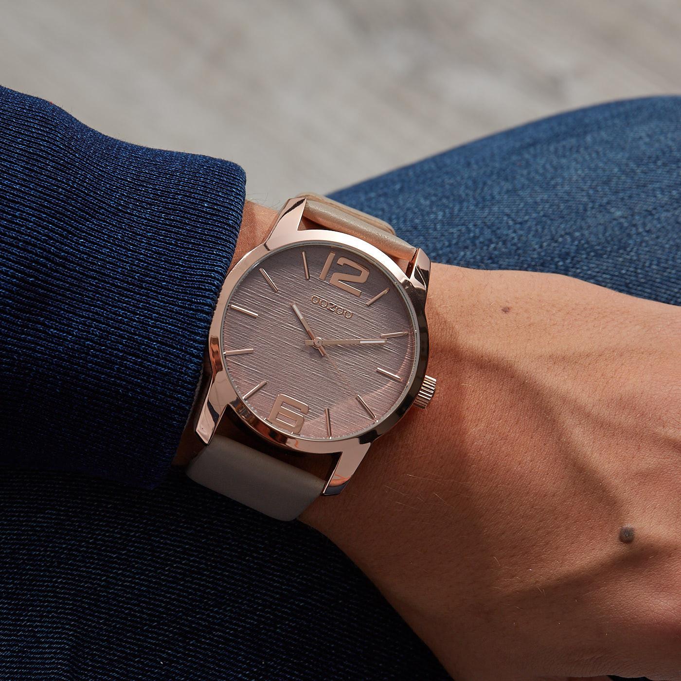 OOZOO Timepieces Taupe horloge C9731 (48 mm)