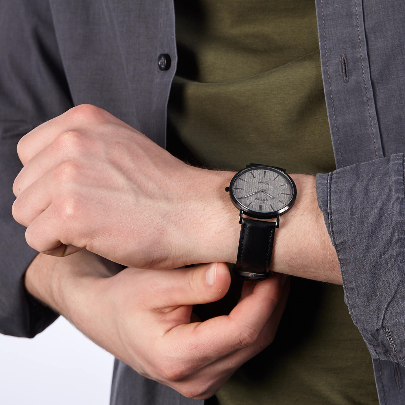 OOZOO Timepieces Zwart/Wit C9757 (42 mm)