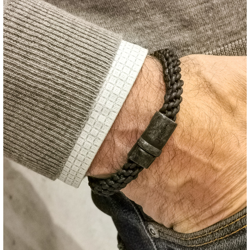 Josh Vintage Black Armband 09085-BRA-VB/BLACK (Lengte: 19.50-21.50 cm)