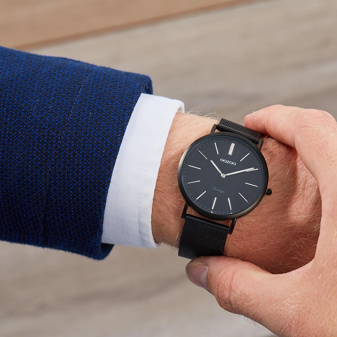 OOZOO Vintage horloge Zwart C7394