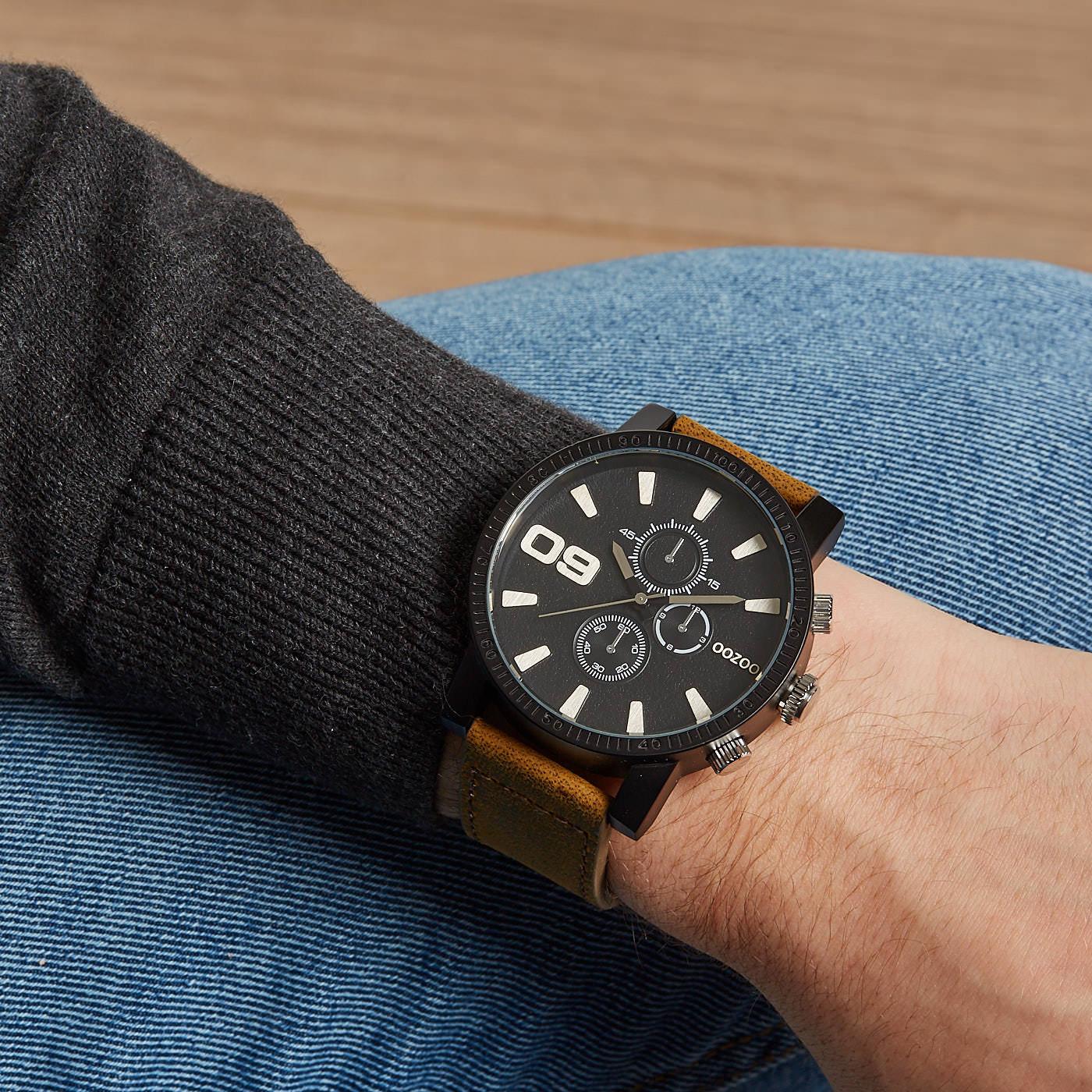 OOZOO Timepieces Zwart horloge C9033 (50 mm)