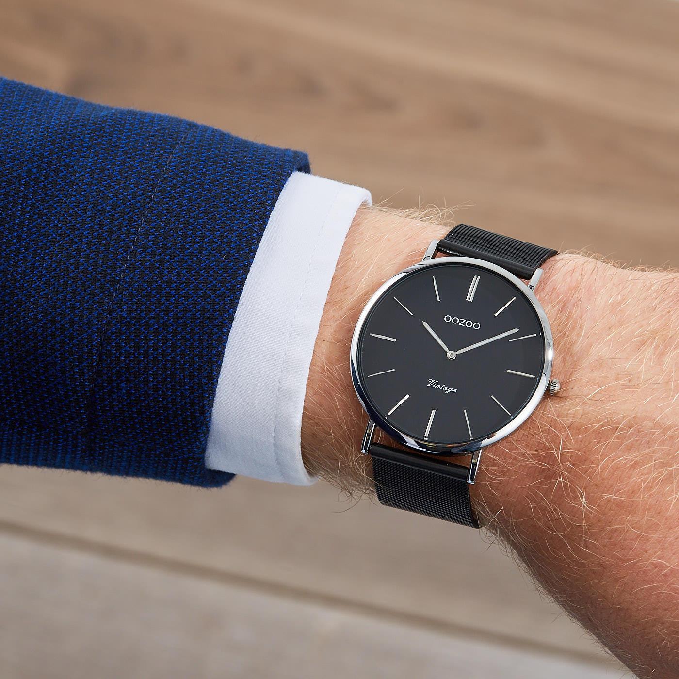 OOZOO Vintage Zwart horloge C8864