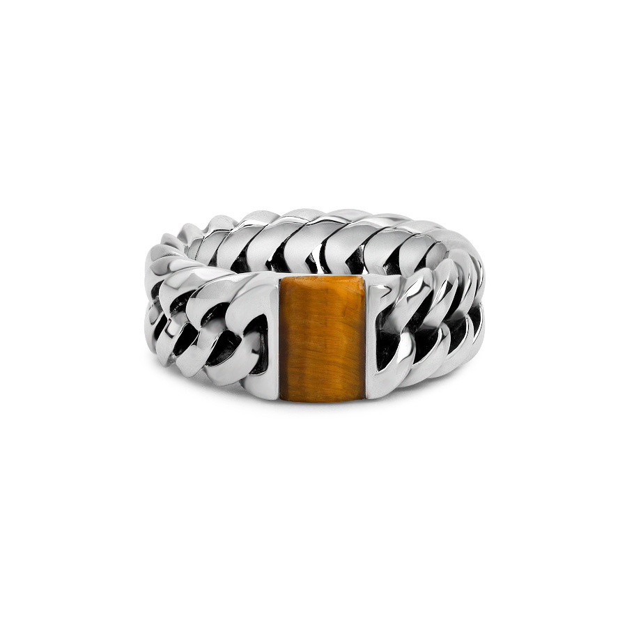 Buddha to Buddha 603TI Chain Stone Tiger Eye Ring
