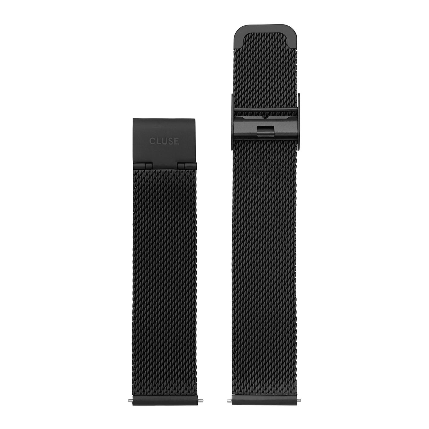 CLUSE Strap 16 mm Minuit Mesh Full Black CLS348