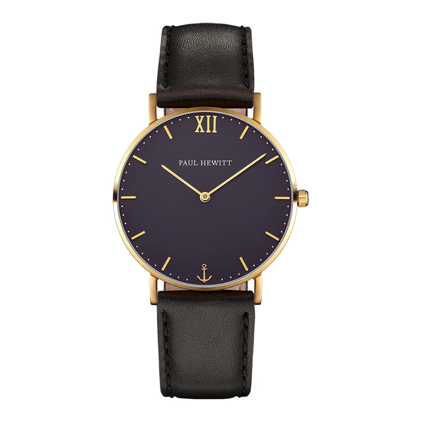 Paul Hewitt Sailor Line Gold Blue Lagoon horloge PH-SA-G-St-B-2M