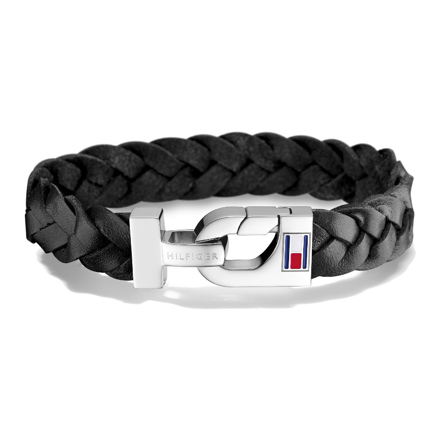 Tommy Hilfiger Thick Braided Leather Armband TJ2700872
