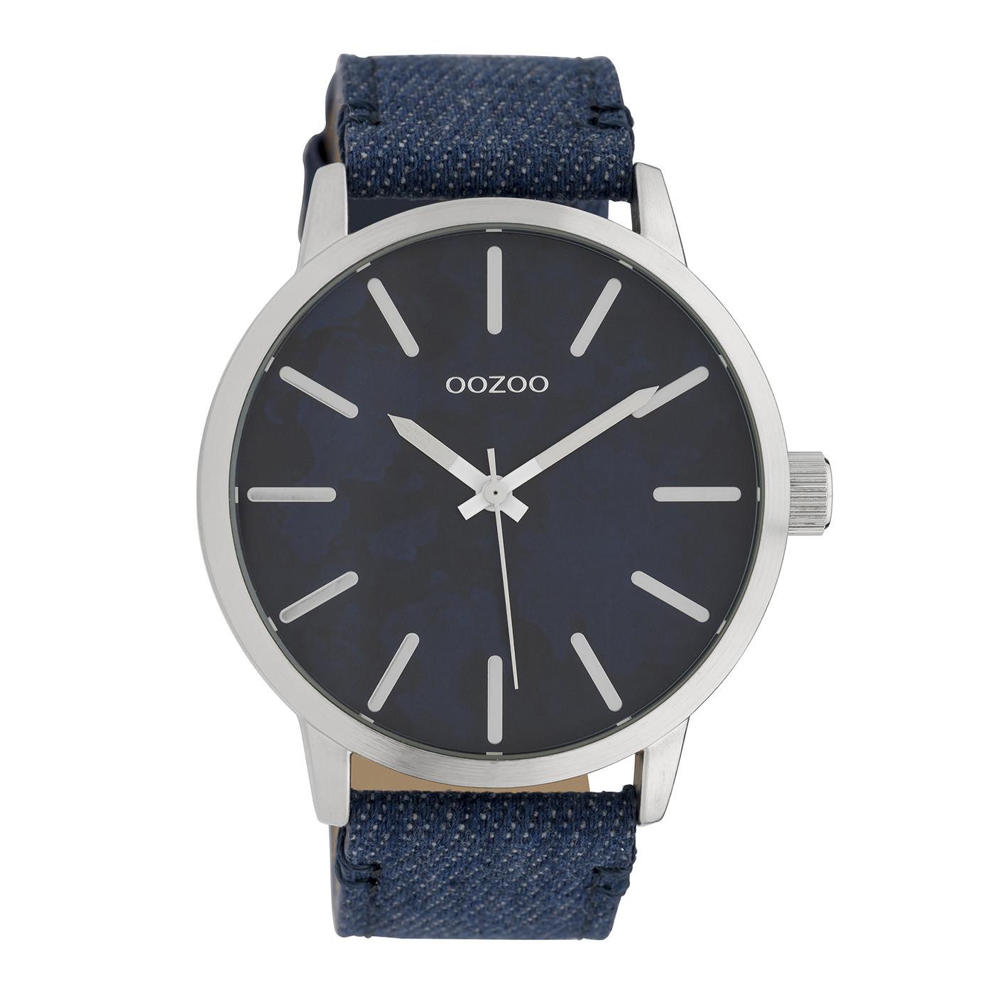 OOZOO Timepieces Blauw horloge C10002 (45 mm)