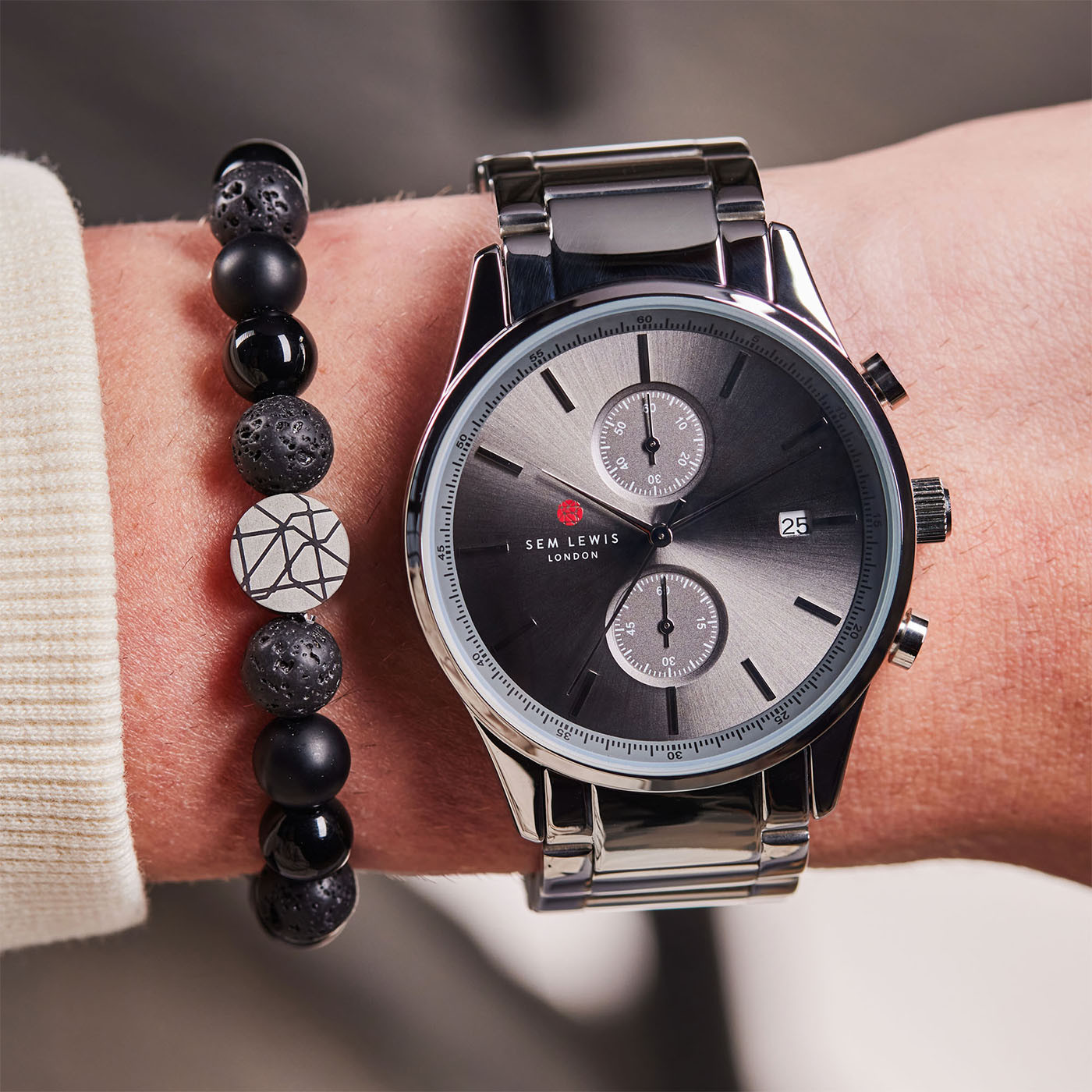 Sem Lewis Metropolitan Oxford Chronograph horloge SL1100013