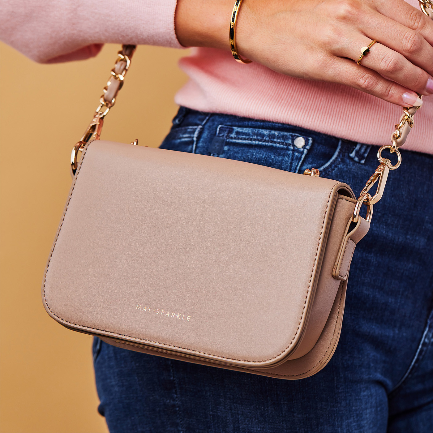 May Sparkle Festive Taupe Crossbody MS22001