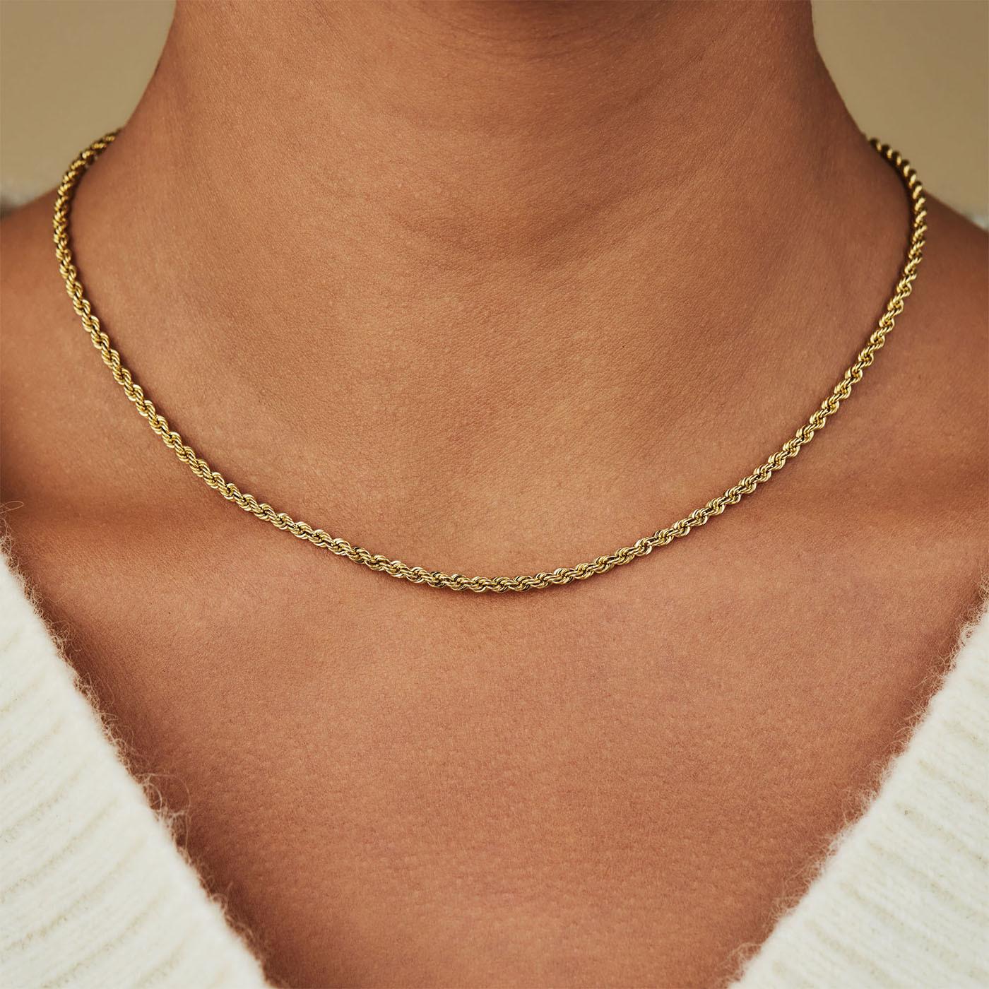 Isabel Bernard 14 Karaat Gouden Rivoli Violette Collier IB340034 (Lengte: 42 cm)