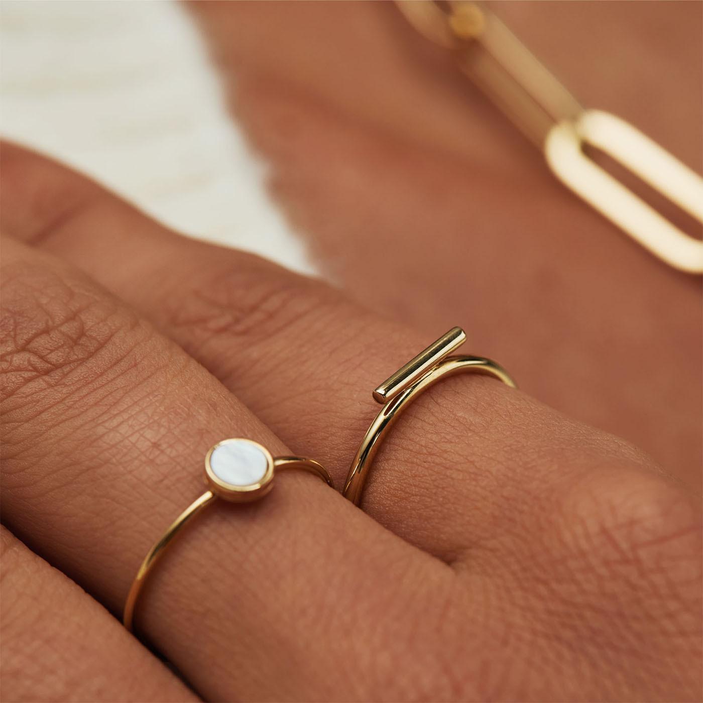 Isabel Bernard Belleville Julia 14 Karaat Gouden Ring IB330010