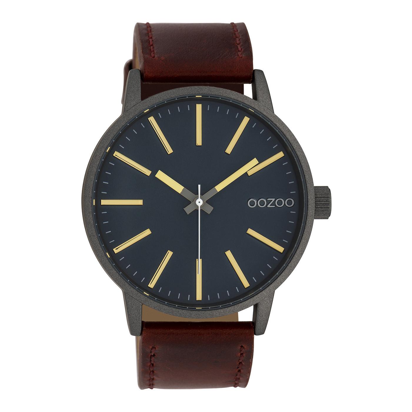 OOZOO Timepieces Cognac/Petrol horloge C10012 (45 mm)