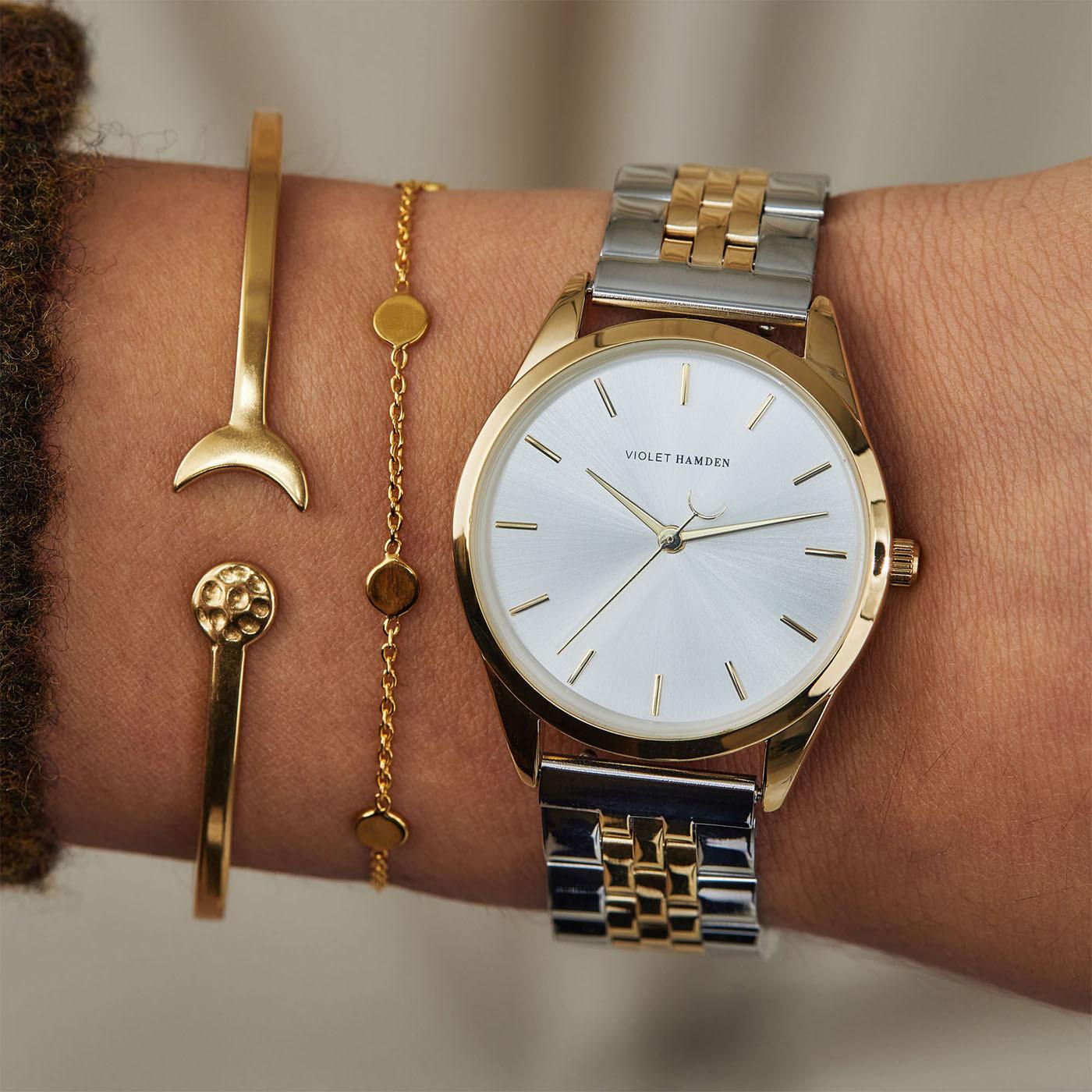 Violet Hamden Serene City Zilver -en Goudkleurig horloge VH04005