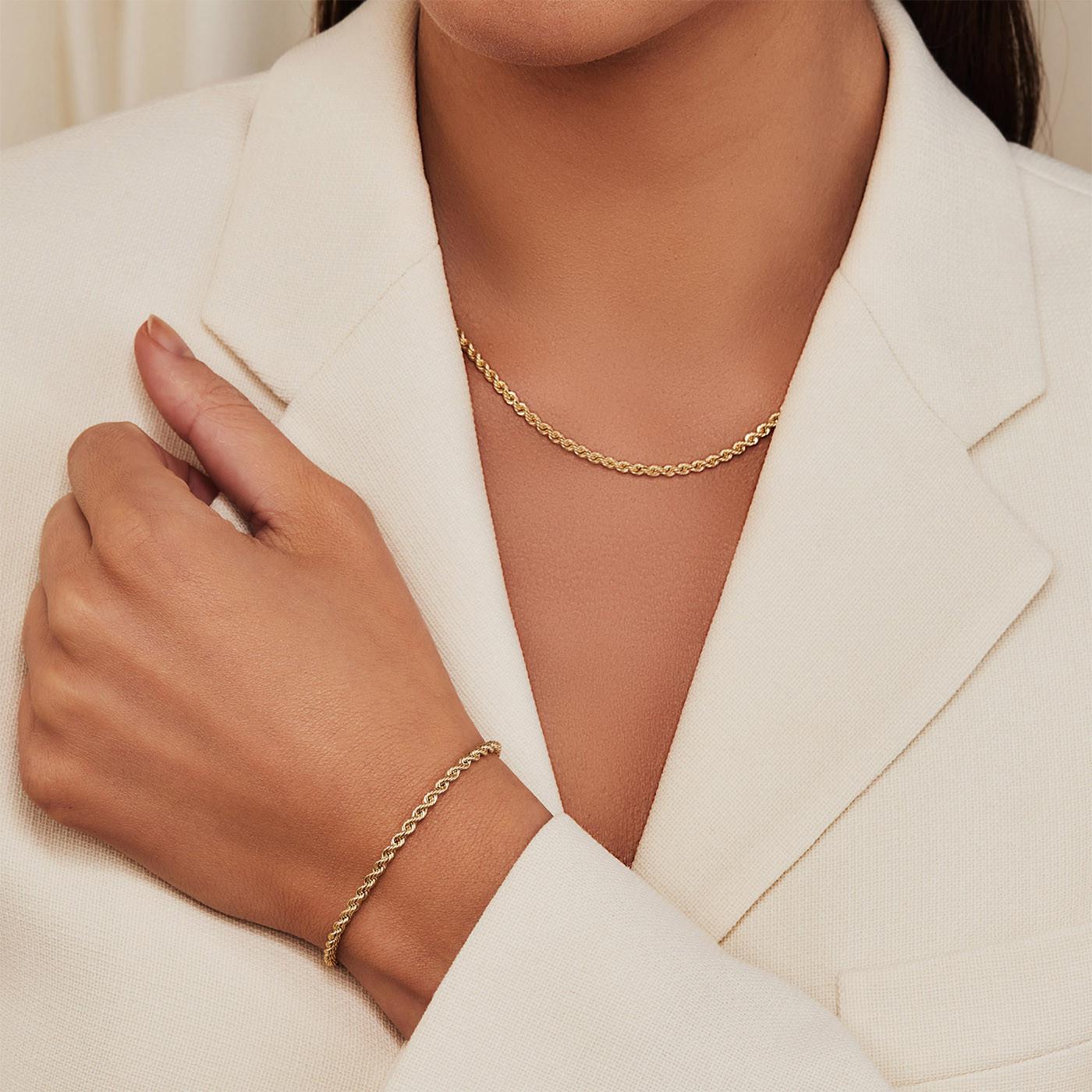 Isabel Bernard Cadeau d'Isabel 14 Karaat Gouden Collier Met Armband Giftset IB90028