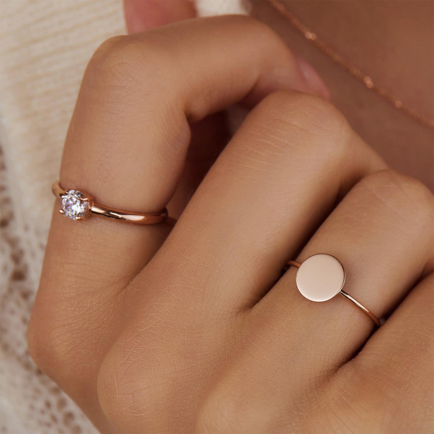 Isabel Bernard La Concorde Milou 14 Karaat Rosé Gouden Ring IB330023