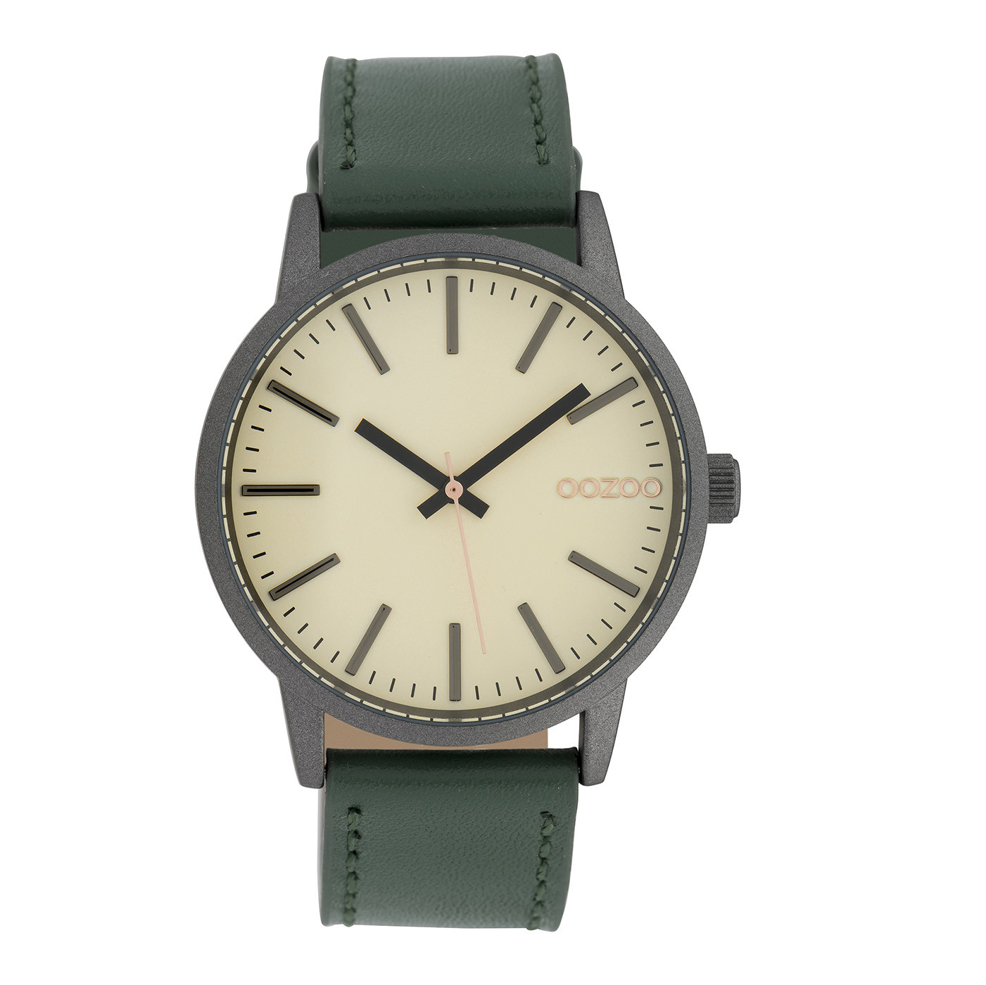 OOZOO Timepieces Groen/Cream horloge C10018 (40 mm)