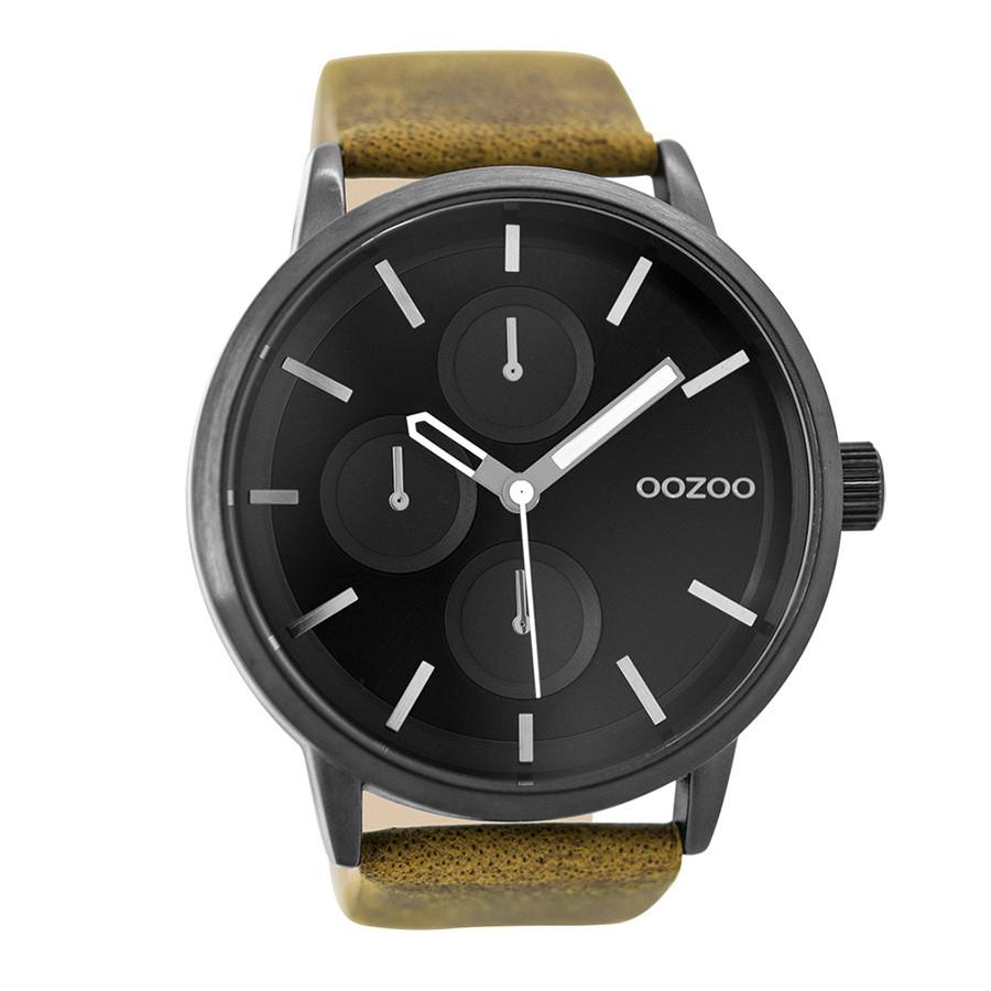 OOZOO Timepieces Camel/Zwart horloge C9428 (48 mm)