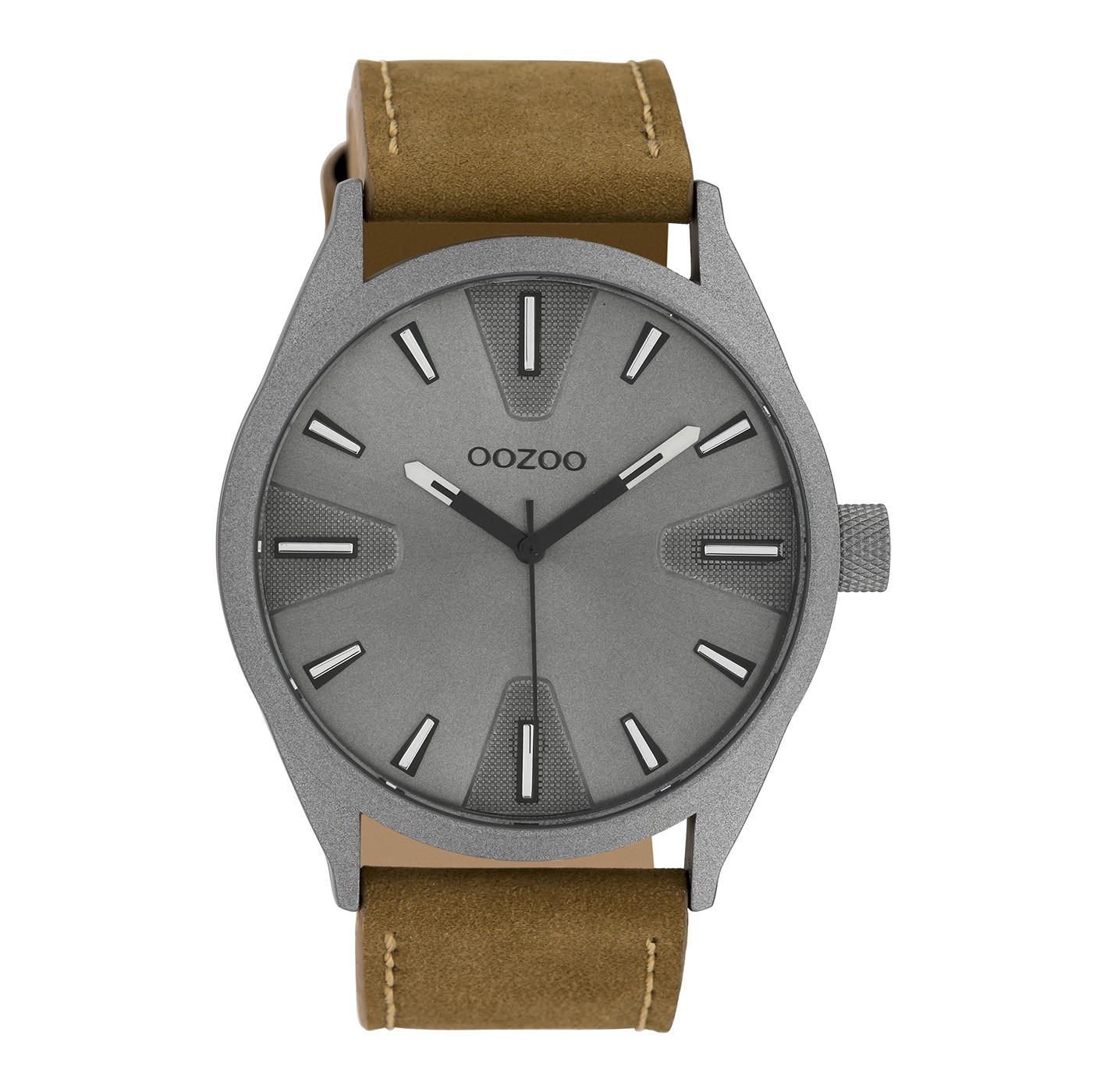 OOZOO Timepieces Bruin/Grijs horloge C10022 (46 mm)