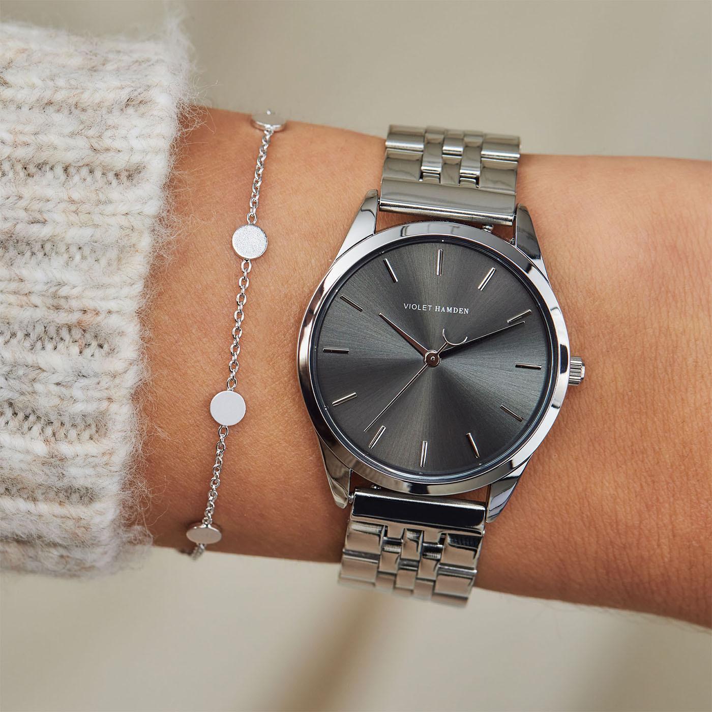 Violet Hamden Serene City Zilverkleurig/Grijs horloge VH04003