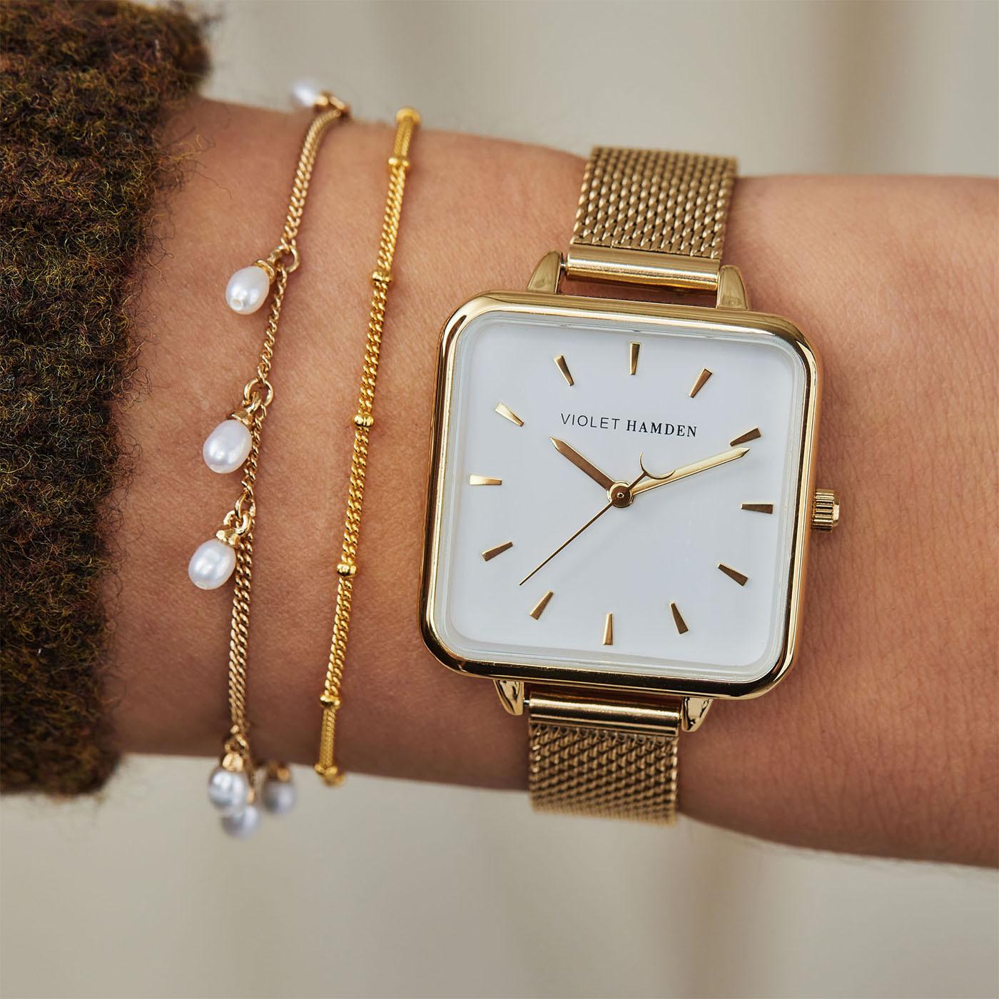 Violet Hamden Goudkleurig Dawn horloge VH02001