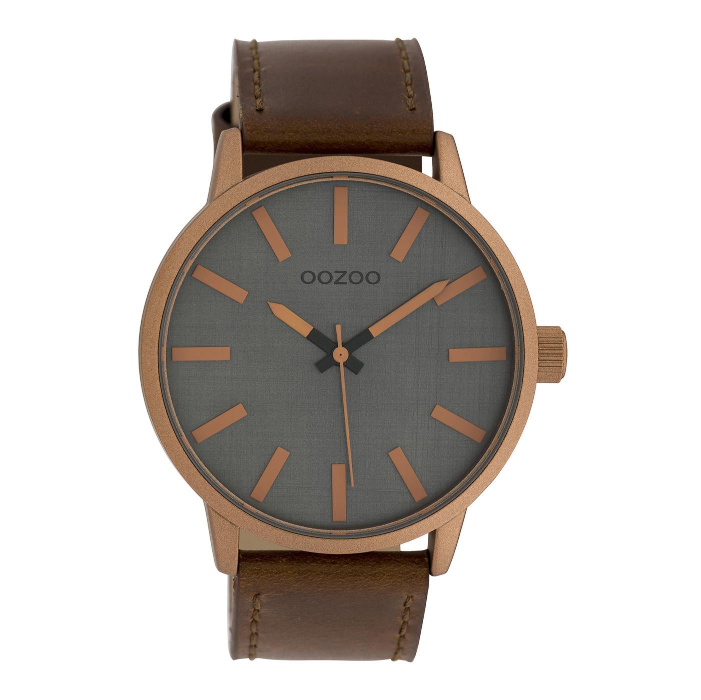 OOZOO Timepieces Bruin/Grijs horloge C10033 (45 mm)