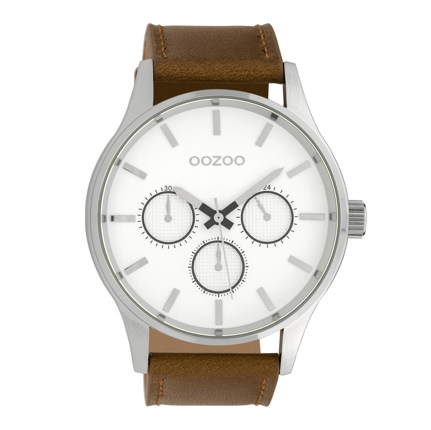 OOZOO Timepieces Bruin/Wit horloge C10045 (48 mm)