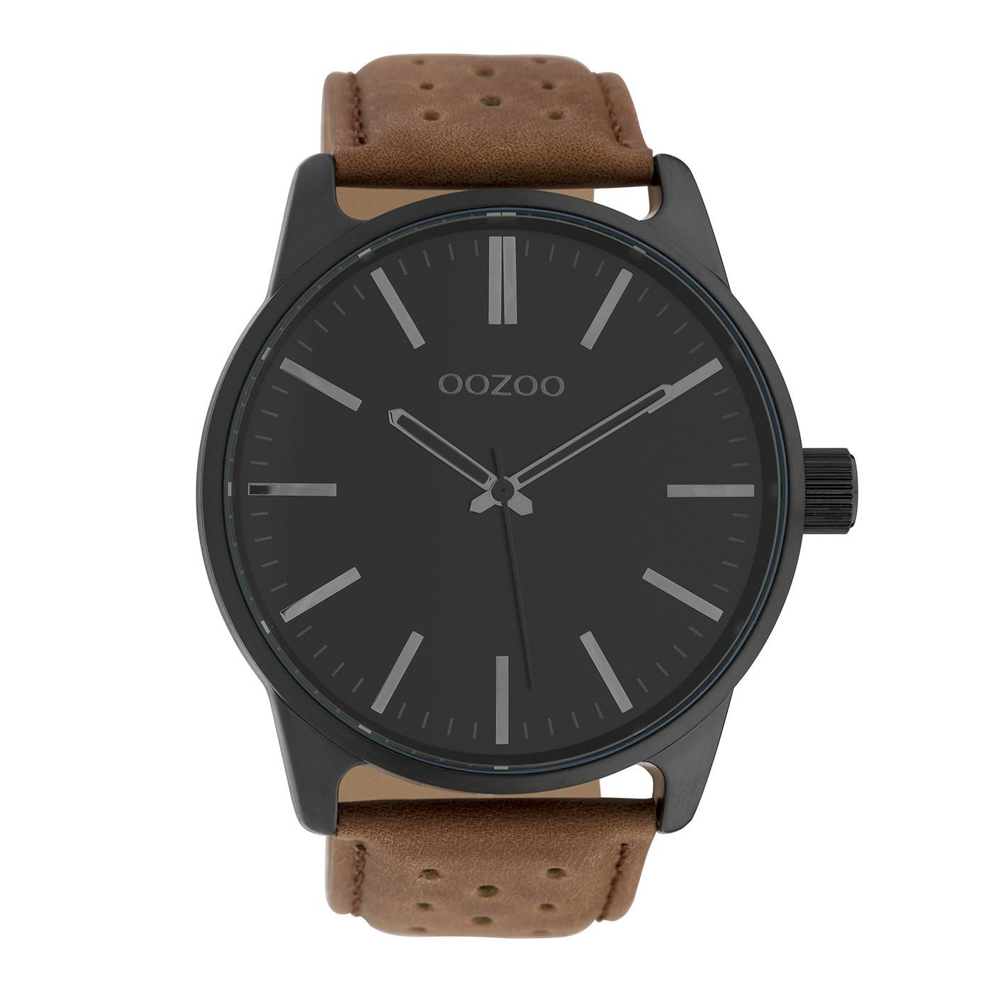 OOZOO Timepieces Bruin/Zwart horloge C10051 (48 mm)