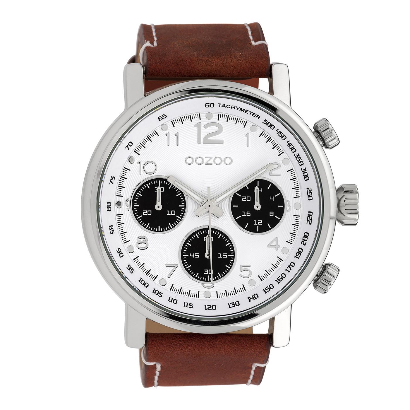 OOZOO Timepieces Bruin/Wit horloge C10060 (48 mm)