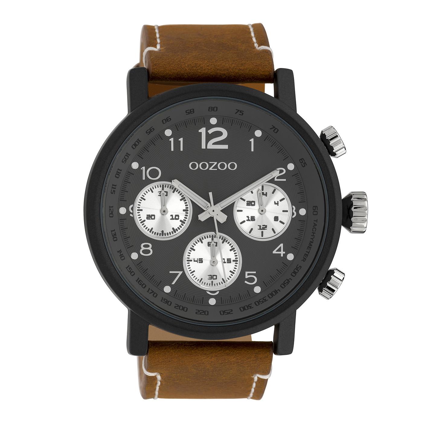 OOZOO Timepieces Bruin/Zwart horloge C10062 (48 mm)