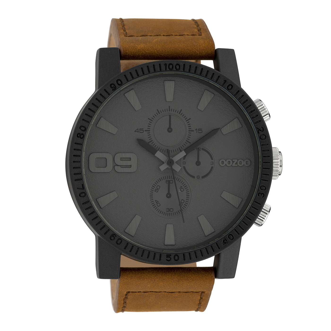 OOZOO Timepieces Bruin/Grijs horloge C10064 (48 mm)