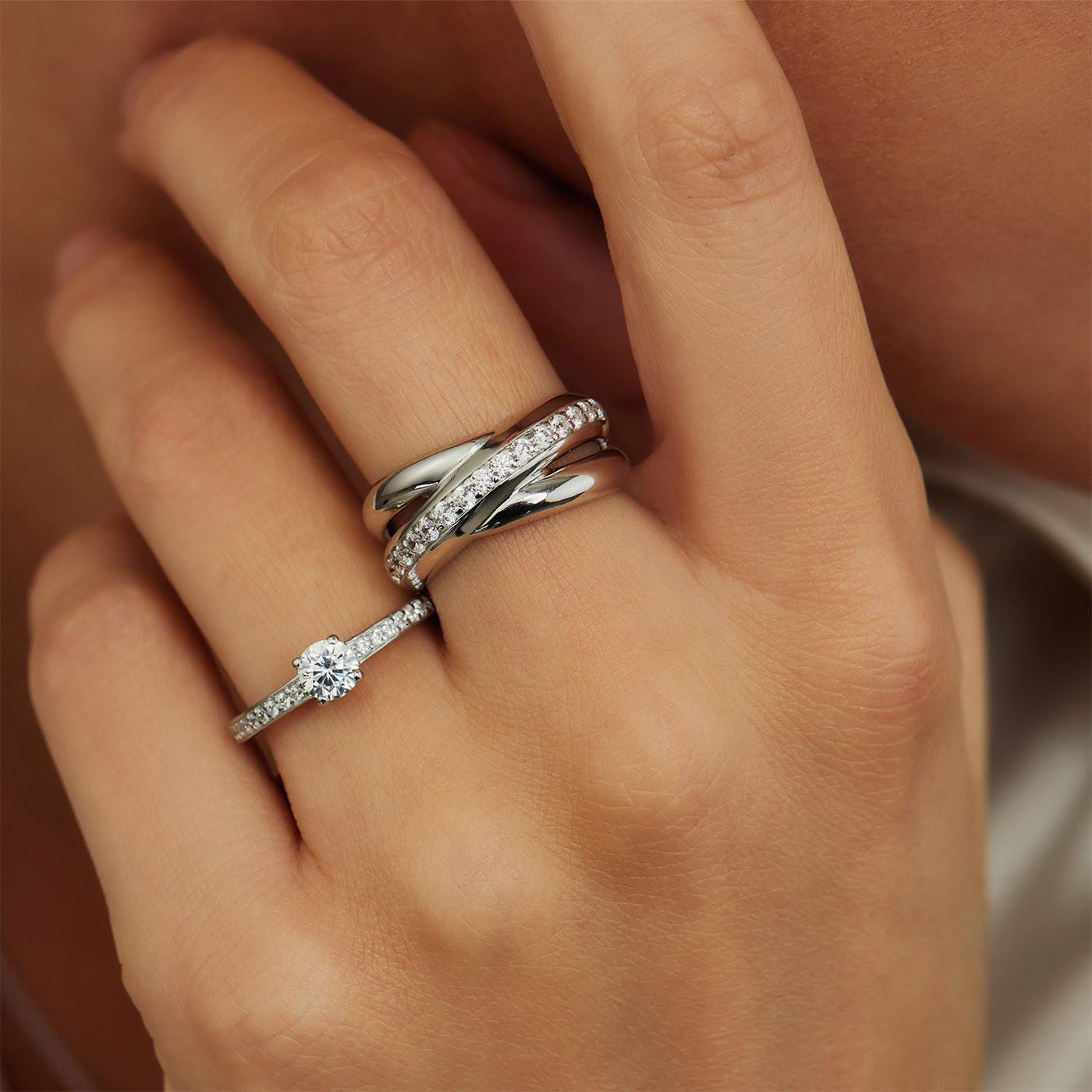 Parte Di Me 925 Sterling Zilveren La Fiore Ibisco Ring PDM1300003