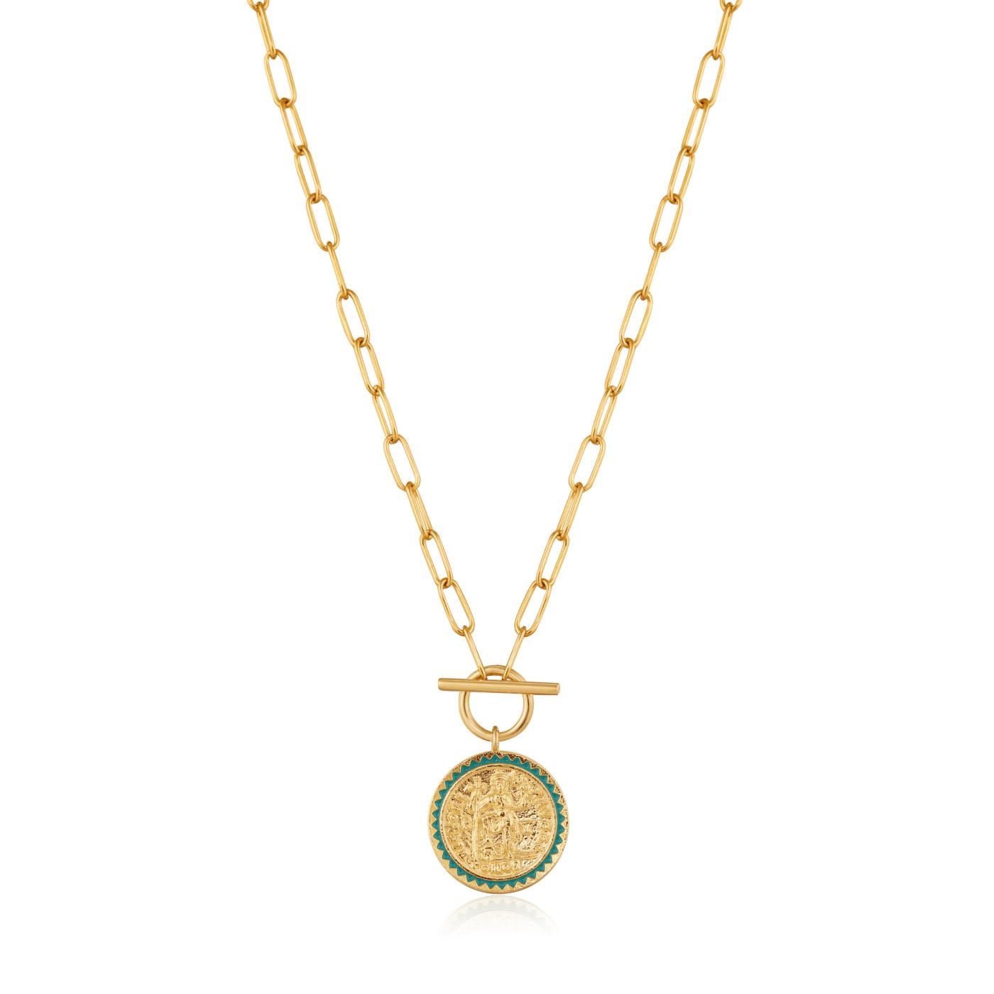 Ania Haie 925 Sterling Zilveren Gold Digger Emperor Collier AH-N020-05G (Lengte: 38.00 cm)
