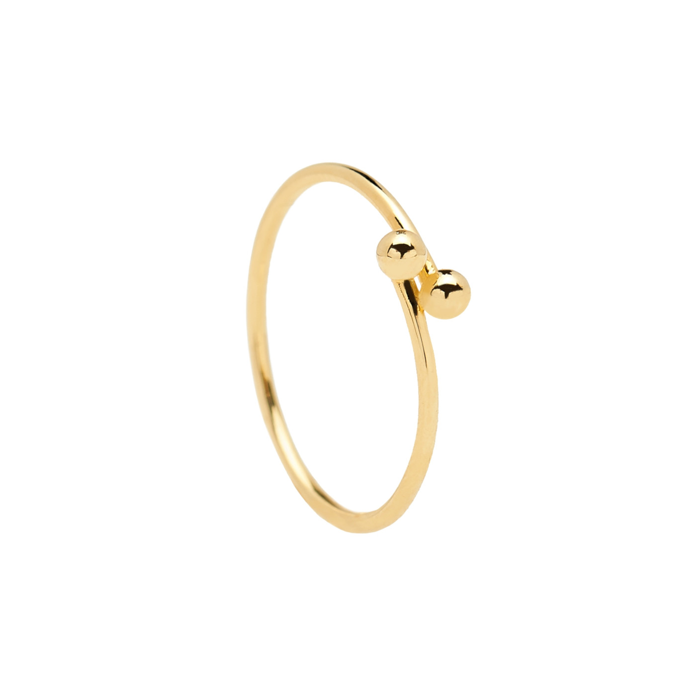 P D Paola 925 Sterling Zilveren Goudkleurige L'Esseentiel Aura Ring AN01-128