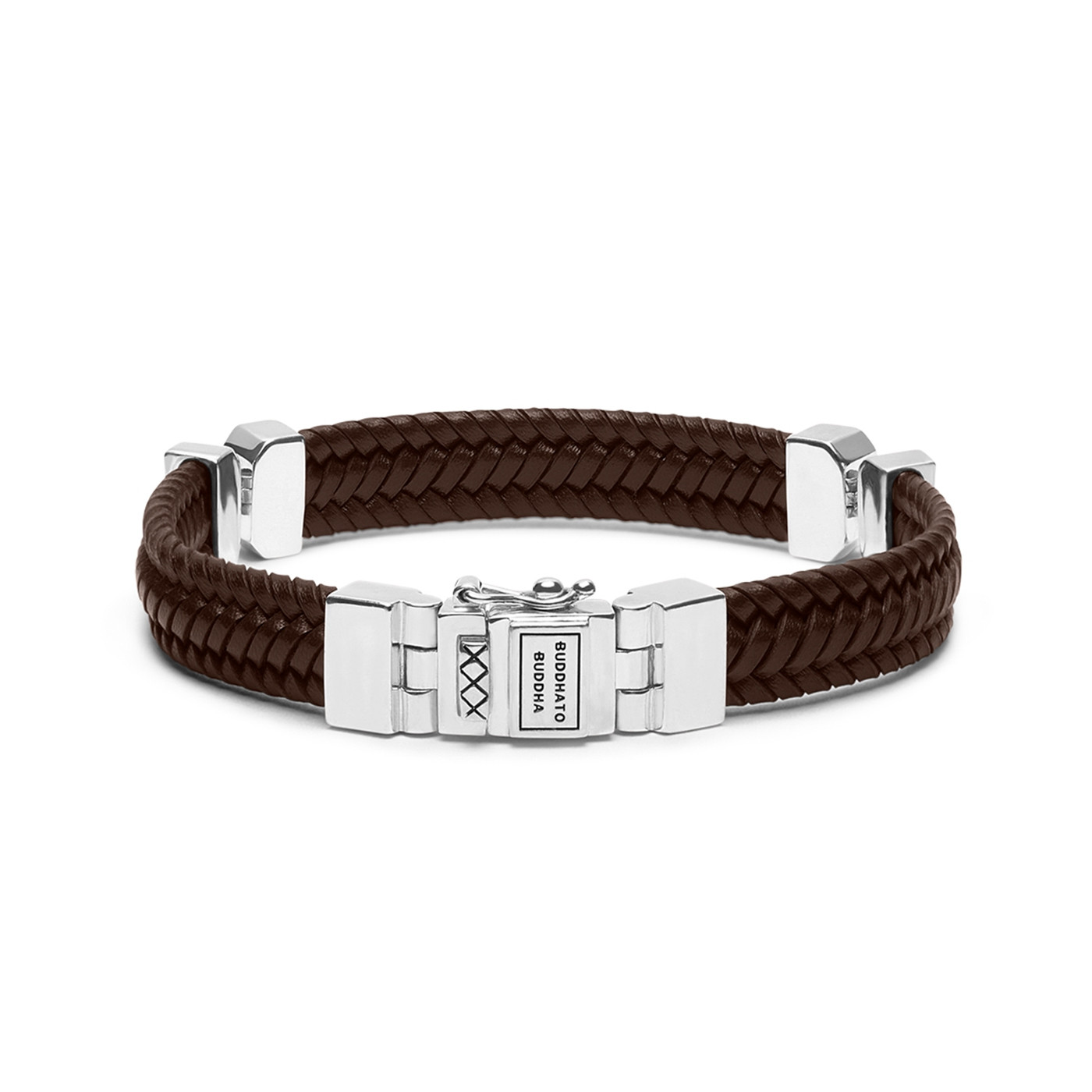 Buddha to Buddha Edwin Small Special Leather Brown Armband 182BR (Lengte: 19.00-23.00 cm)