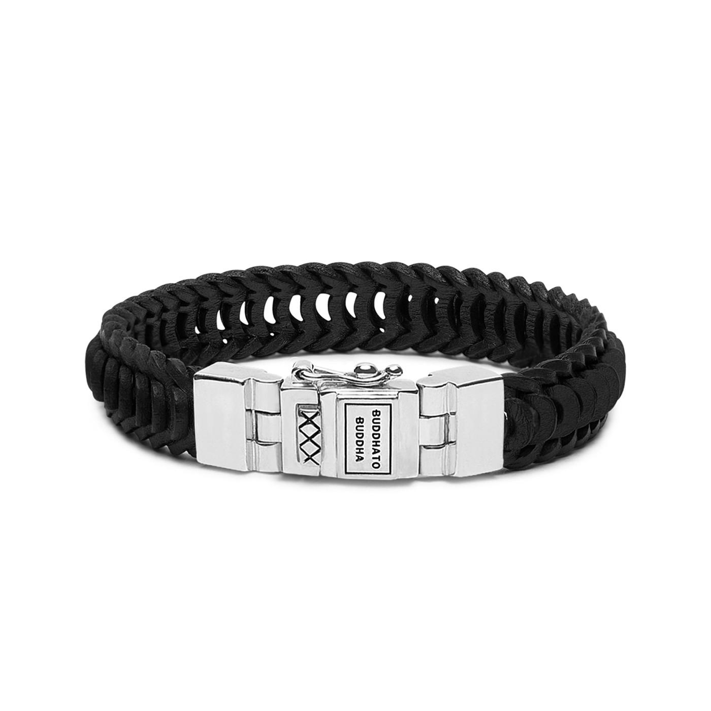 Buddha to Buddha Lars Leather Black Armband 187BL (Lengte: 19.00-23.00 cm)